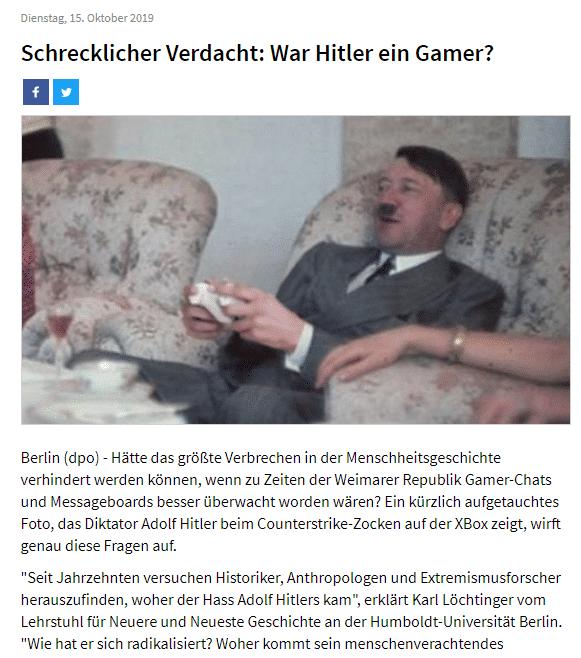 Hitler ist ein Gamer? Zumindestens ist er ein Sperrgrund für Facebook! 2